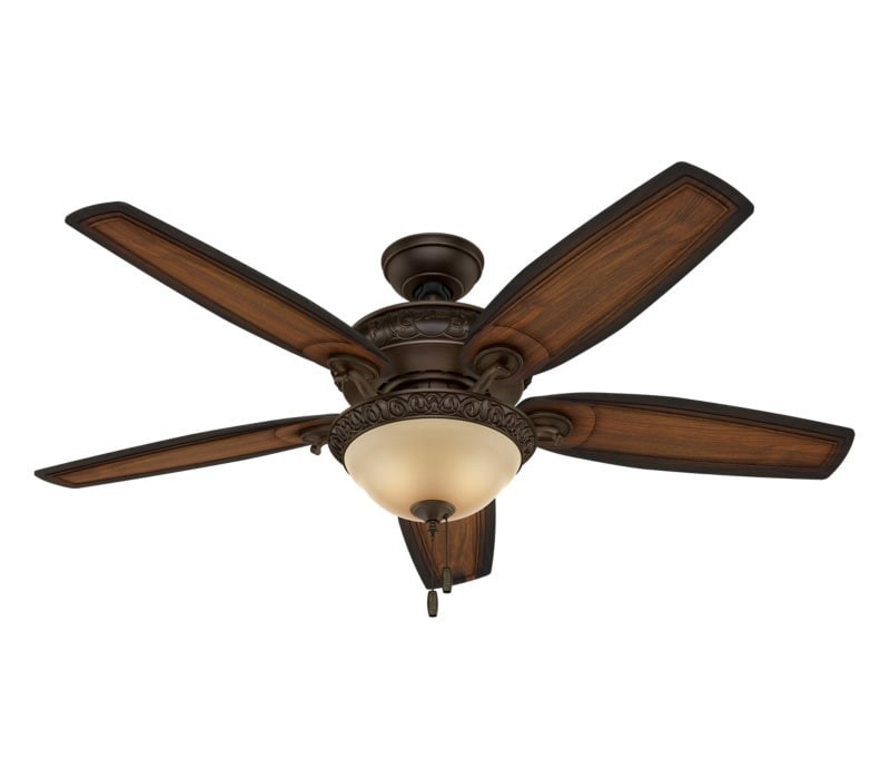Hunter 54014 Claymore 54 Inch Brushed Cocoa Ceiling Fan