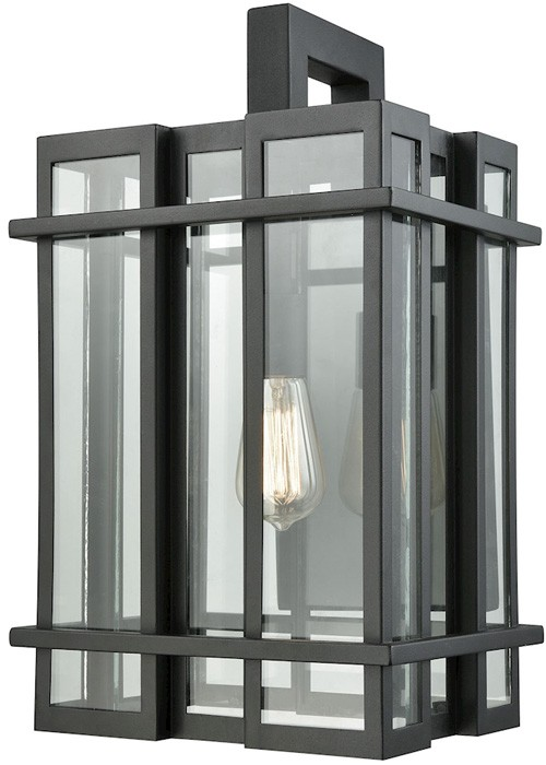 elk lighting glass tower elk-glass-tower-outdoor-wall