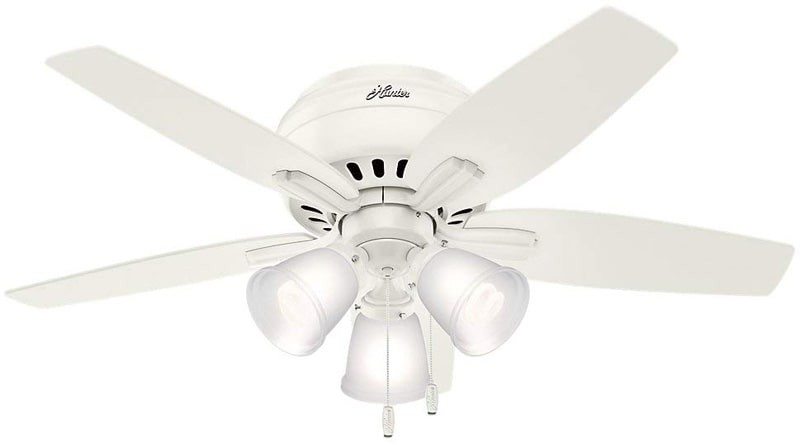 hunter ceiling fans newsome hunter-newsomeflush3light-1