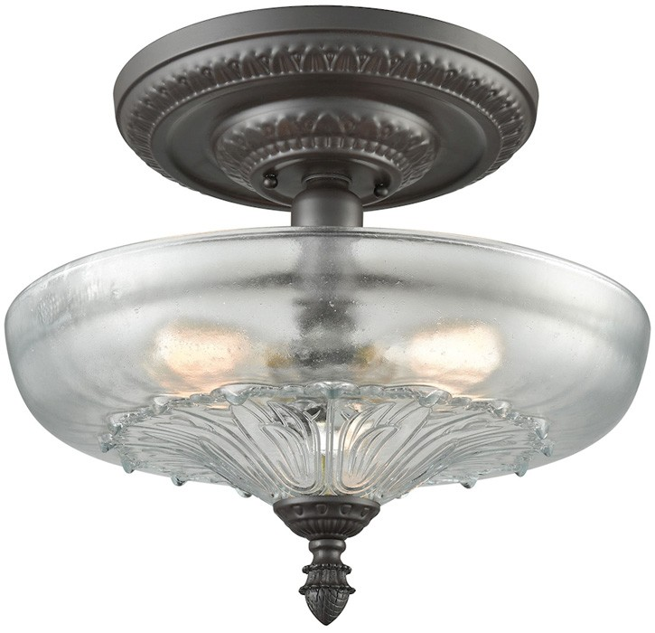 elk lighting restoration flushes 66395-3