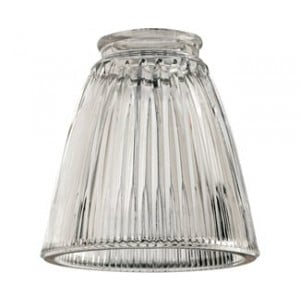 Clear Ribbed Bell Glass