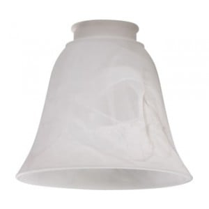 Faux Alabaster Bell Glass