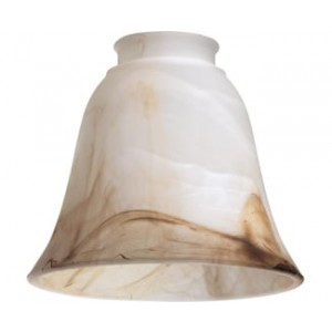 Faux Brown Alabaster Glass