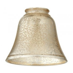 Bell-Shaped Silver Mercury Glass
