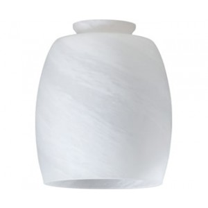 Faux Alabaster Barrel Glass