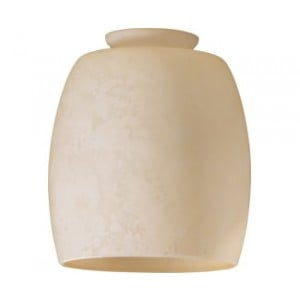 Cream Mottled Scavo Barrel Glass