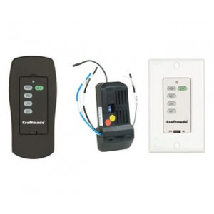 Three Speed and Light Dimming Remote and Wall Controls
