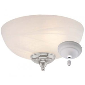 Dome Bowl Light Kit with White Faux Alabaster Glass