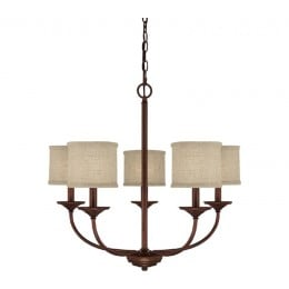Burnished Bronze - Tan Fabric Shade