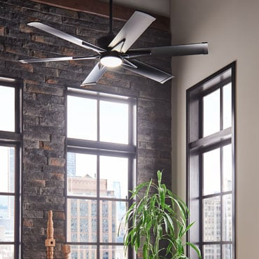 Large Black Ceiling Fans 62 Inches